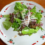 イタリアンレストランバーココロ - サラダ。ゴマドレッシング添え