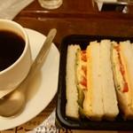 上島珈琲店 - ミックスサンドとブレンドコーヒーS