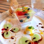 ベルパロッソ - 7種のフルーツたっぷりゼリー480円