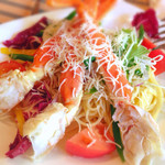 ベルパロッソ - ズワイガニと夏野菜の冷製スパゲッティ1480円