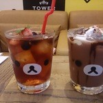 TOWER RECORDS CAFE - ごゆるりココアとひんやりリラックス♪ベリーピーチティー