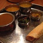 41103247 - ネパール定食。