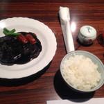 蘭亭ぽん多 - 味変には和芥子とケチャップ