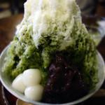 41105979 - 特・緑茶氷(練乳がけ)_620円
