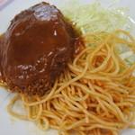 慶応義塾大学三田キャンパス 山食 - 2015.08 メンチカツはあんかけで・・・