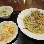 萬福飯店 - 汁なし坦々麺セット_2015/08