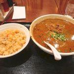 萬福飯店 - 黒胡麻タンタン麺セット_2015/08