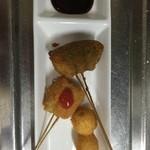 Wafuri - オクラ海老真薯、枝豆梅肉、ウズラ玉子