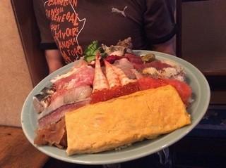 寿司広 - 2015/7月 デカ盛り海鮮丼