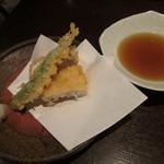 41122812 - アナゴと万願寺唐辛子の天ぷら