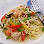 ラマーレ - 料理写真:海老と彩り野菜のアーリオオーリオ