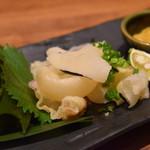 かば屋 - 塩鯨の酢味噌刺し¥580