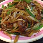 易福菜館 - ニラレバ炒め