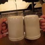 ピルゼン - ホワイトジョッキで乾杯〜♪