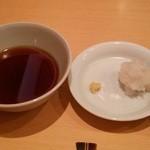 三合菴 - 天つゆと薬味(大根おろし、生姜)
