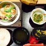さが野 - 夏季限定 蛸の釜めしセット1280円(税込)