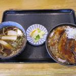 くまうし - 豚丼、田舎そばセット