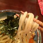 麺屋元就 - 特元就つけ麺の麺リフト〜(*^◯^*)