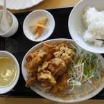 優味彩 - 鳥の唐揚げ定食 850円