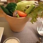 Noel Bistronomic Nagano - 信州野菜のバーニャカウダ。蕗味噌風味のソース。