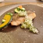 Noel Bistronomic Nagano - メダイのポワレ、玉葱とフェンネルのソース。