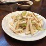 麺屋 廣島弐番 - ザーサイとチャーシューあえ❤️ その名の通りザーサイと鳥チャーシューをゴマ油で和えた一品。旨し!