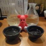 41137901 - 日本酒飲み比べ(徳島鳴門鯛特別純米酒と徳島本家松浦山廃純米原酒直播)