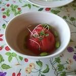 Satoyamakafetasaburousansou - 【料理】黒岩トマトの旨煮
