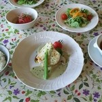 Satoyamakafetasaburousansou - 【料理】週がわりのランチ これにデザートとドリンクがつきます