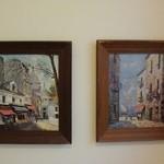 時の回廊 - トイレ内の絵画
