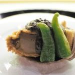 日本橋OIKAWA - 鮑のおかき揚げ 肝ソース