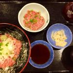 夢庵 - 料理写真:ねぎとろ丼ねぎとろW・味噌汁