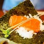 芒種 - サーモン昆布締め、手巻き寿司でどうぞ