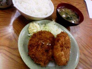 みゆき食堂 - みゆきコロッケ定食 600円