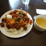 ユーロスターカフェ - ESC彩り牛丼でございます