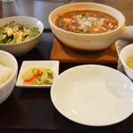 中華食堂 あんじょう - 麻婆豆腐ランチセット