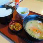 ジョイフル - 豚汁朝食422円(ご飯大盛り)