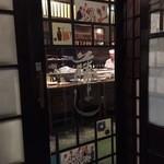 藤よし - 入り口のドアも心なしか重みがあって高級焼鳥店の感じを醸し出してます。