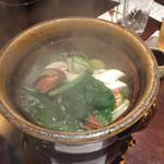 41153477 - 台の物…松茸の小鍋仕立て