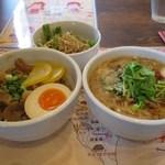 41154394 - ハーフ&ハーフセット(ハーフ麺線+ハーフ魯肉飯+ミニサラダ)