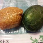 41154707 - 高菜いなり\154と新漬めはり寿司\226