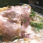 豚人なかまる - かなりアブラギッシュなスープ(笑)