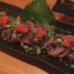 鳥蔵 - 信州牛のたたき( ^ω^ )