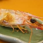 菊水鮓 - 車海老頭の塩焼き、みそも入っていますよ!