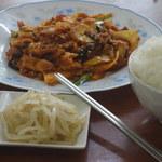 韓家 - 豚キムチ定食です。