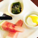 Troom Café - ランチsetのデザートプレート