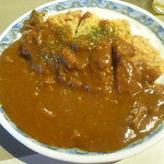 カレーショップ インデアン - 料理写真:インデアンとシロクマ食堂のコラボ、シロクマインデアンカツカレー 2015.8月