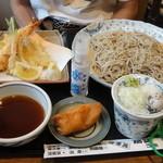Echigoya - 「ちらし天せいろ・生蕎麦バージョン¥1.520」デス。