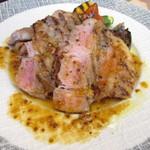41170843 - 神戸豚肩ロース肉とお野菜のロースト粒マスタードソース