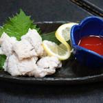 若鮨 - 鱧の湯引き梅ソース
